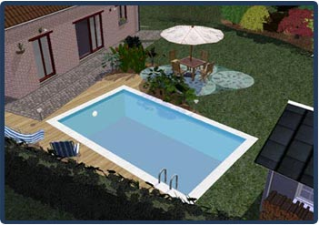 Abords de jardins et piscine en brabant wallon danhier for Construction piscine brabant wallon